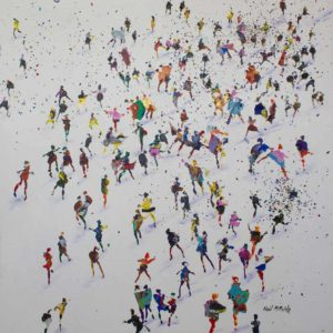 Acrylic on canvas, size 24_ x 24_ - 'We Came Here to Dance' (1)