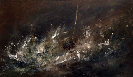 DARREN---BOAT-IN-A-STORM-TRIBUTE-TO-TURNER-13-x-22-£1495