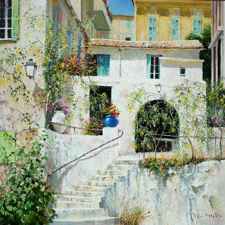 JOHN-DONALDSON---LA-MAISON-BLANCHE-an-old-farm-in-the-suburbs-near-the-Italian-Riviera-18-x-18-£2495-