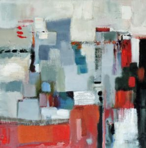 red-and-grey-abstract-oil-on-linen-30-x-30cm