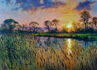 sunrise-over-the-reedbeds13x18-2017