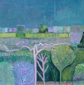 "Sharow Fields - Acryic on Birch Ply - 36"" x 36"" - £1,995"