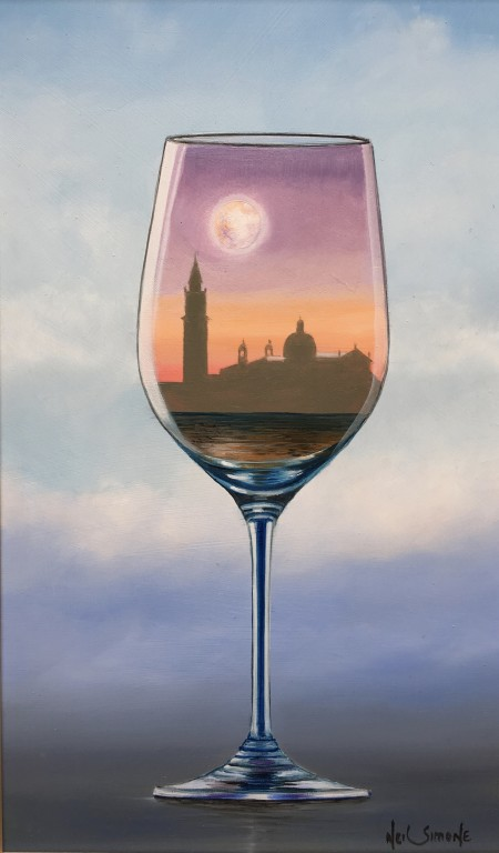 Venetian glass moon 10 x 6 £695